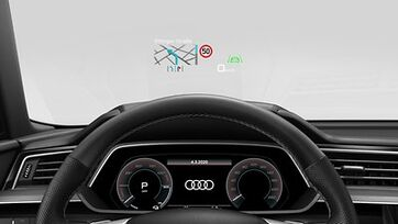 Audi e-tron S Head-up Display